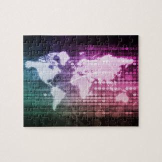 Puzzle Connexion réseau globale et intégré