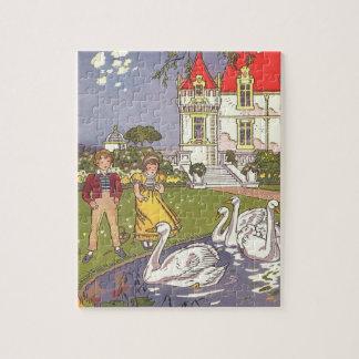 Puzzle Conte de fées vintage, le vilain petit canard par