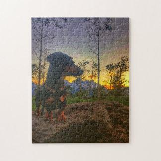 Puzzle Coucher du soleil au-dessus du Tetons