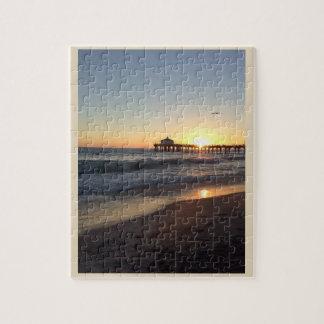Puzzle Coucher du soleil au pilier de Santa Monica