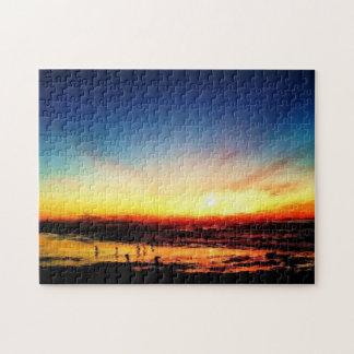 Puzzle Coucher du soleil de plage de Golden State