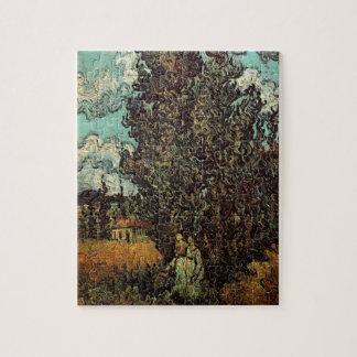 Puzzle Cyprès de Van Gogh et deux femmes, beaux-arts