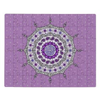 Puzzle d'acrylique d'argent d'imaginaire de Mehndi