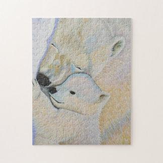 Puzzle d'amour d'ours blanc