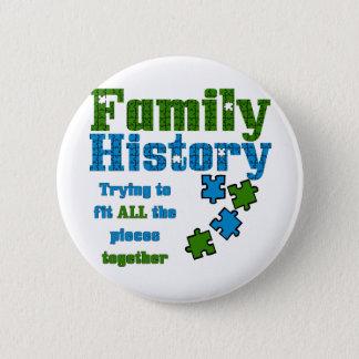 Puzzle d'antécédents familiaux badge rond 5 cm