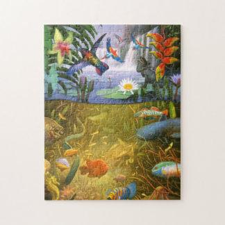 Puzzle de faune de forêt tropicale