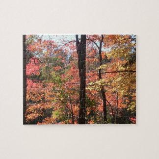 Puzzle de feuillage d'automne