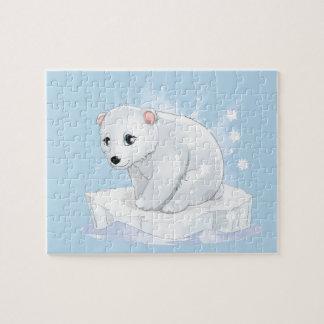 Puzzle de jeu d'ours blanc de bébé