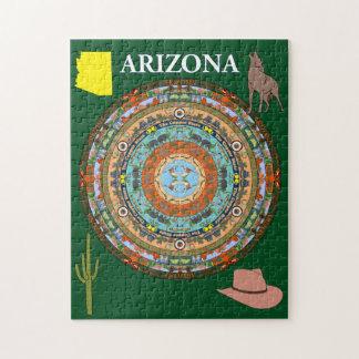 Puzzle de mandala d'état de l'Arizona