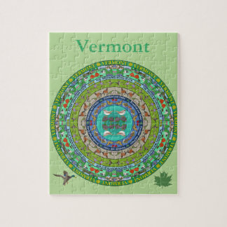 Puzzle de mandala d'état du Vermont