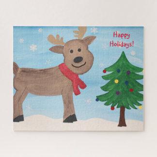 Puzzle de Noël de renne de vacances
