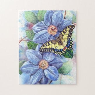 Puzzle de papillon d'aquarelle