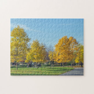 Puzzle de photo d'arbres d'automne