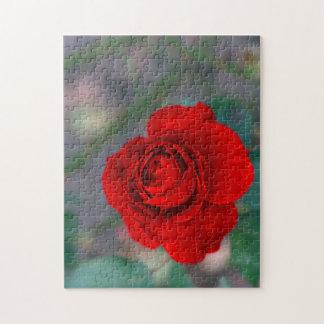 Puzzle de photo de fleur avec la boîte-cadeau