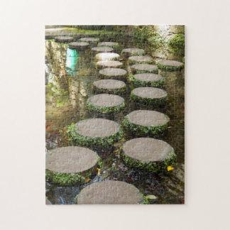 Puzzle de photo de pierres de progression avec la