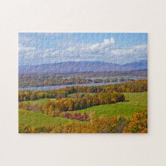 Puzzle de pont de Rhinecliff en automne
