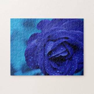 Puzzle de rose de bleu
