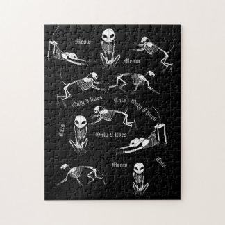 Puzzle de squelette de chat