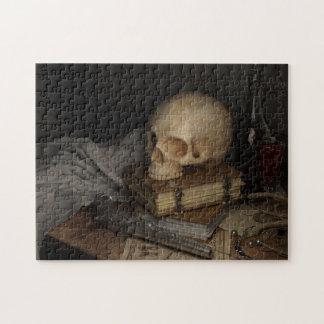 Puzzle De style toujours la vie gothique avec le crâne