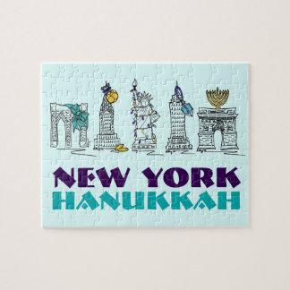Puzzle de vacances de New York Hanoukka Chanukah