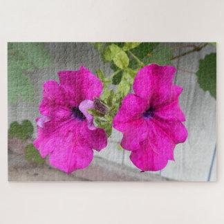 Puzzle Deux fleurs roses de pétunia