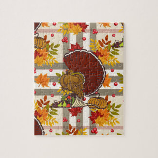 Puzzle dinde de thanksgiving de plaid