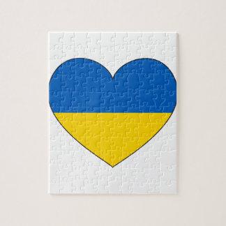 Puzzle Drapeau de l'Ukraine simple