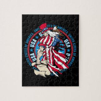 Puzzle Drapeau patriotique des Etats-Unis d'Oncle Sam 4