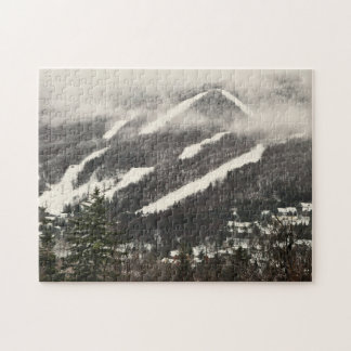 Puzzle du Vermont de neige de bâti