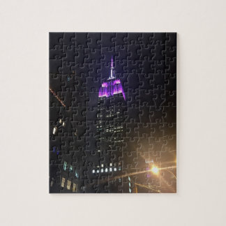 Puzzle Empire State Building pourpre NYC New York City
