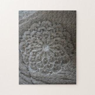 Puzzle en pierre de photo découpé par mandala avec