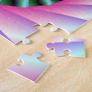 Puzzle Étapes en spirale de rose et de vert