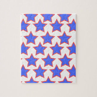 Puzzle Étoiles de bleu et de rouge