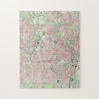 Puzzle Fayetteville la Caroline du Nord Map (1997)
