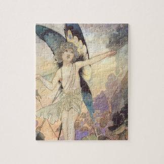 Puzzle Fée victorienne vintage de papillon par Robinson