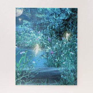 Puzzle féerique de forêt de nuit
