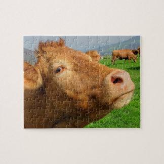 Puzzle Fermez-vous vers le haut de la photo de portrait