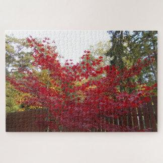 Puzzle Feuille d'érable rouge d'automne