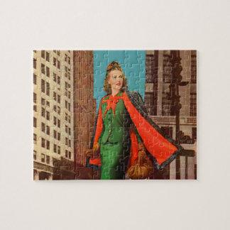 Puzzle fille de la ville haute des belles années 1940