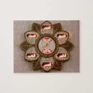 Puzzle Fleurissez l'horloge formée, mosquée de cheik
