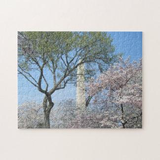 Puzzle Fleurs de cerisier et le monument de Washington