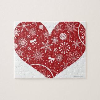 Puzzle Flocons de neige au coeur