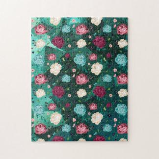 """Puzzle """"floral"""" de la photo 11x14 avec la"""