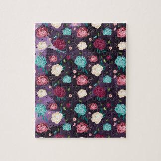 """Puzzle """"floral"""" de la photo 8x10 avec la"""