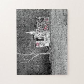 Puzzle Forêt artistique abandonnée de poli de photo de