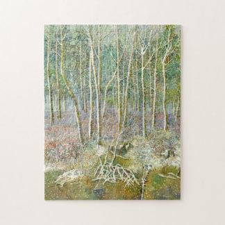 Puzzle forêt d'hiver