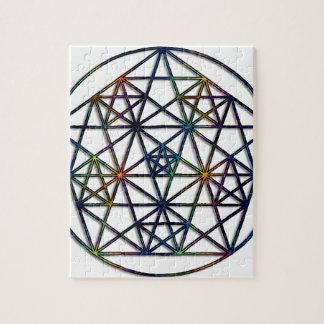Puzzle Fractale sacrée de la géométrie d'abondance de la