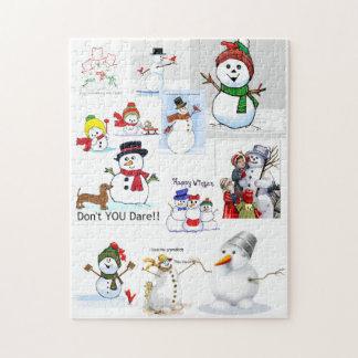 """Puzzle """"Froid de bonhomme de neige"""" dehors"""