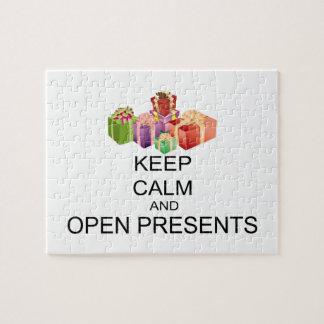 Puzzle Gardez le calme et ouvrez les présents