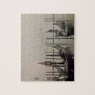 Puzzle Gondoles dans le brouillard, Venise, Italie